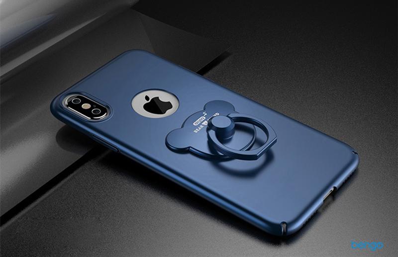 Ốp lưng iPhone X AIQAA nhựa mỏng cao cấp