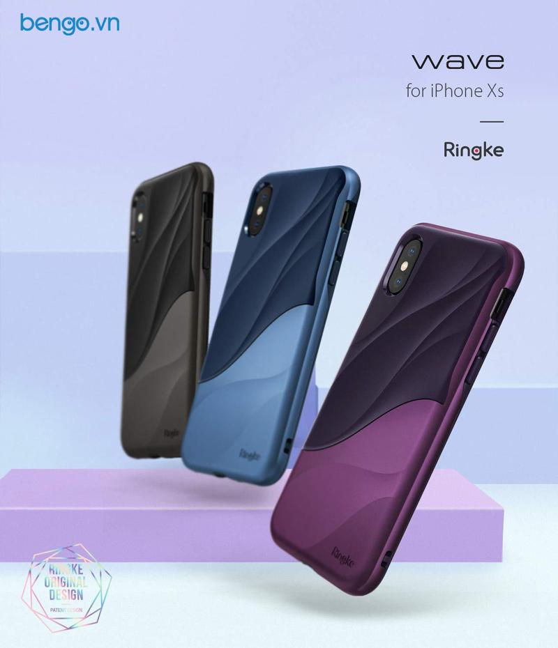 Ốp lưng iPhone Xs Ringke Wave