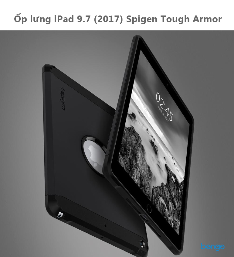 Ốp lưng iPad 9.7 (2017) Spigen Tough Armor