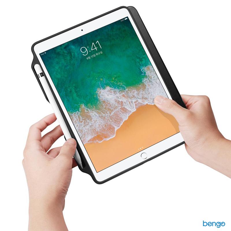 Bao da iPad 9.7'' 2018/2017 Spigen Smart Fold 2 with Pencil Holder