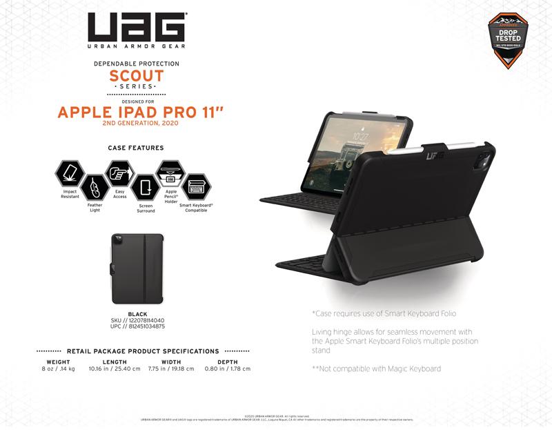 Ốp lưng iPad Pro 11″(2nd Gen, 2020) UAG Scout Series