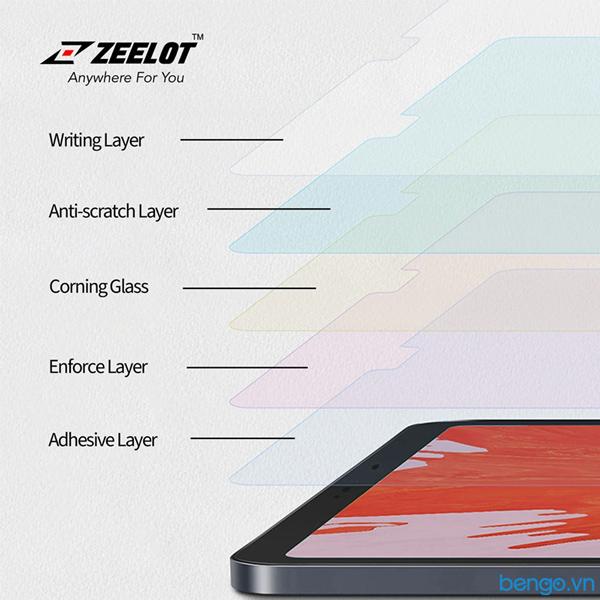 Dán cường lực iPad Mini 5 Zeelot PureGlass 2.5D Chống vân tay