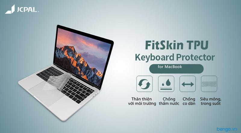 Phủ bàn phím JCPAL Fitskin TPU cho MacBook