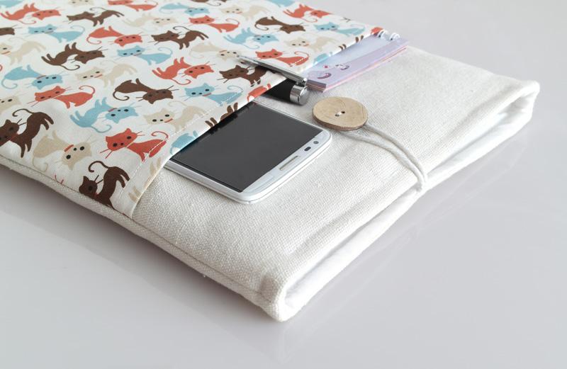 Túi vải Macbook Air 13 inch họa tiết Baby Cat