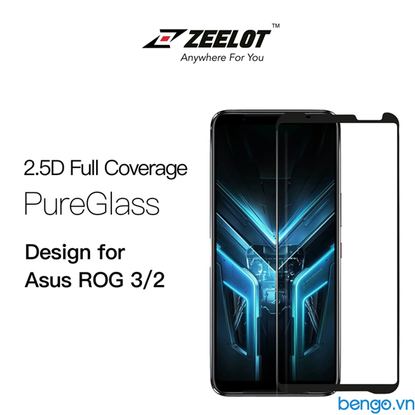 Dán cường lực Asus ROG Phone 2/3 ZEELOT PureGlass 2.5D Full keo