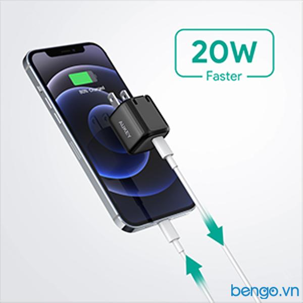 Sạc nhanh Aukey USB-C PD 20W - PA-B1 Pro