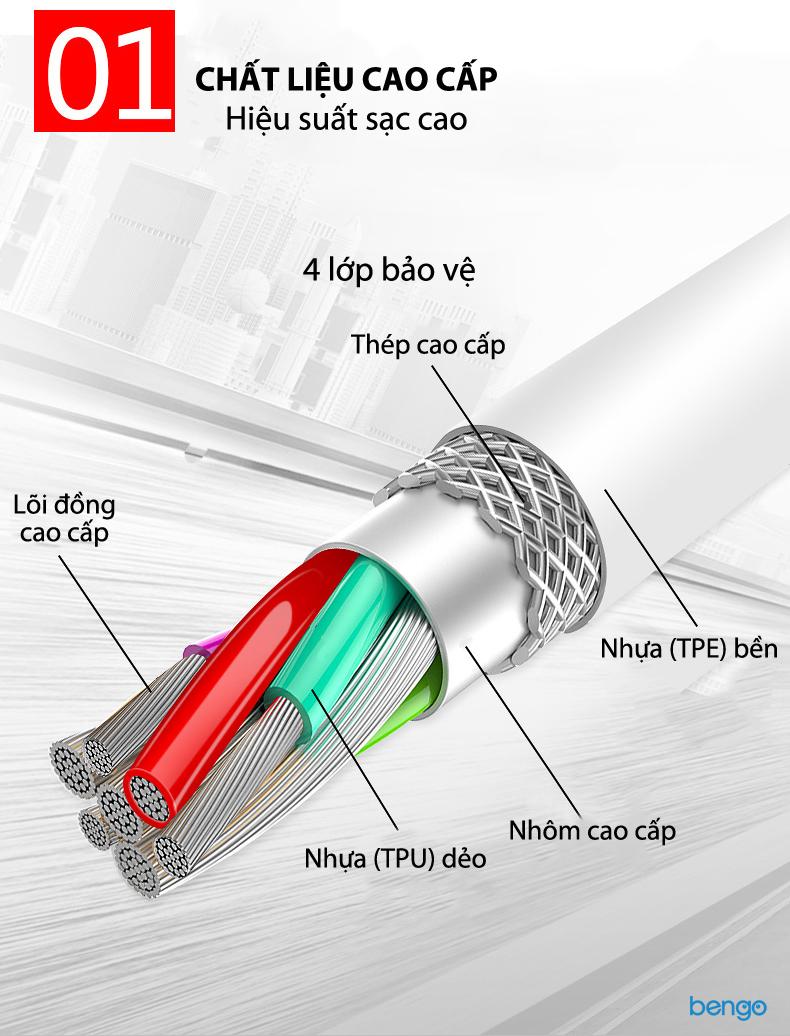 Cáp sạc Huawei Type-c dài 1m chính hãng