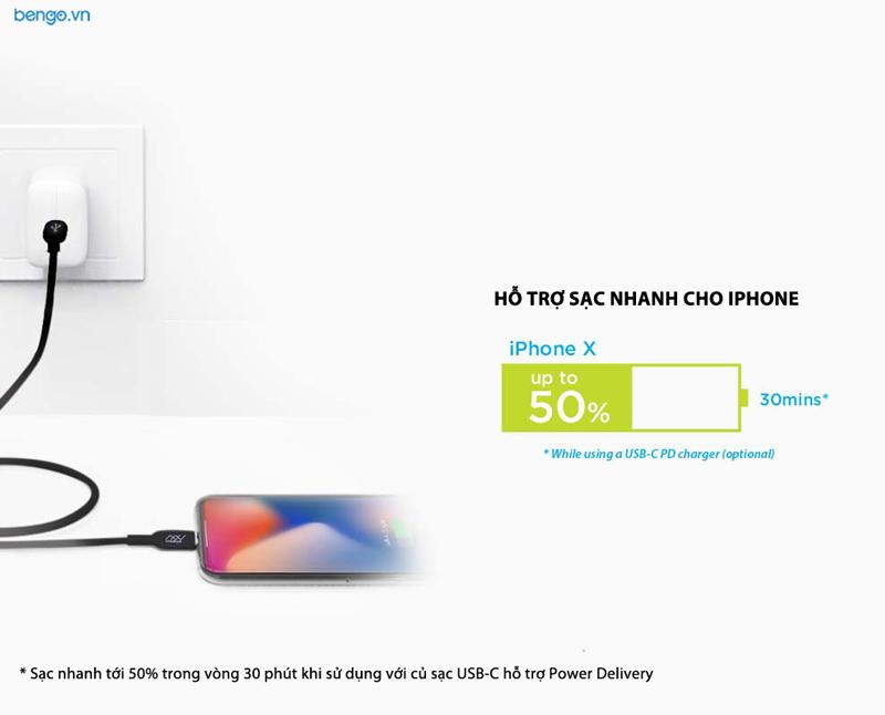 Cáp sạc USB-C to Lightning MFI 1.5m INNOSTYLE DuraFLEX DuPont Kevlar