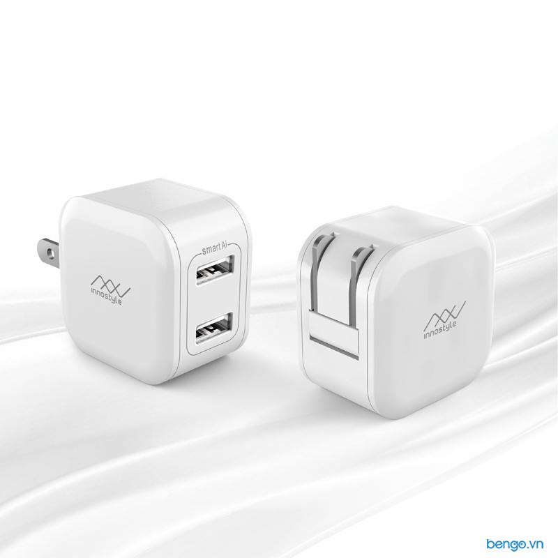 Sạc INNOSTYLE Minigo 2 USB A 12W Smart Charging AI