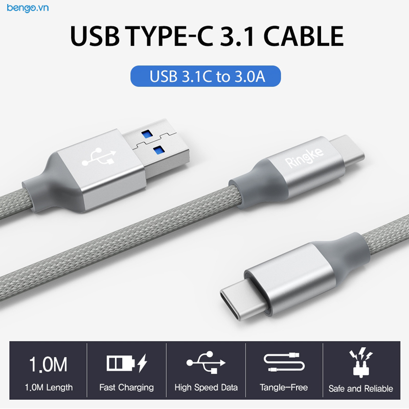 Cáp sạc USB Type C Ringke Cable