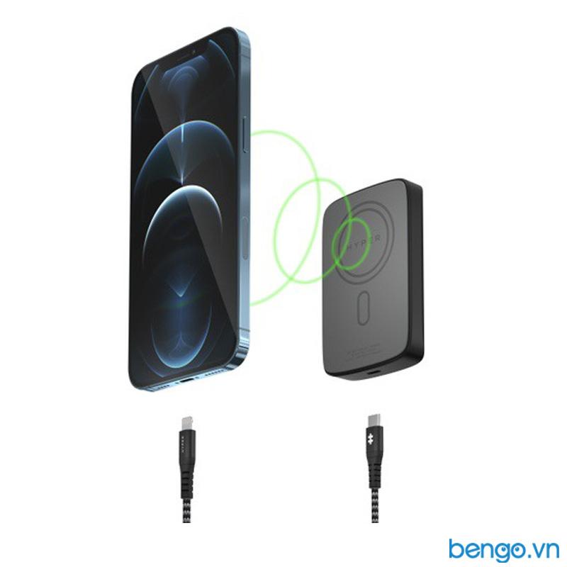Sạc dự phòng không dây từ tính HyperJuice Magnetic Wireless 5000mAh iPhone 12 Series - HJ-WL61TC