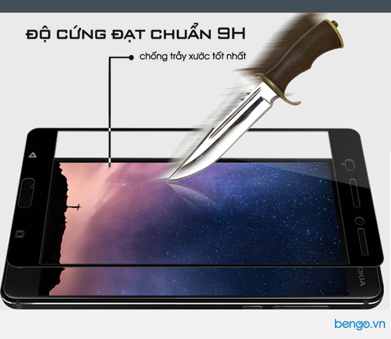 Dán màn hình cường lực Nokia 6 GOR Full màn hình