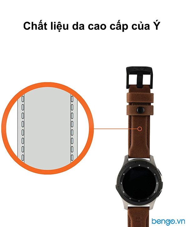 Dây đồng hồ da UAG Leather Universal Watch 22mm