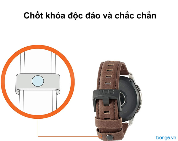 Dây đồng hồ da UAG Leather Universal Watch 20mm