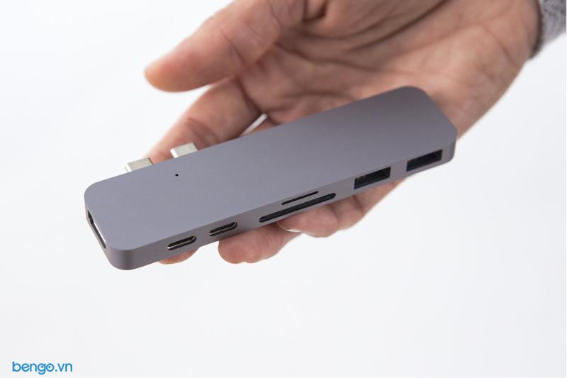 """Cổng chuyển HyperDrive DUAL USB-C Hub for MacBook Pro 13""""/15"""" 2016/2017/2018"""