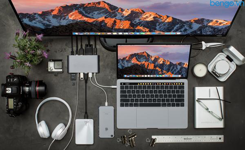 Cổng chuyển Hyperdrive Ultimate USB-C Hub for MacBook pro, PC & Devices