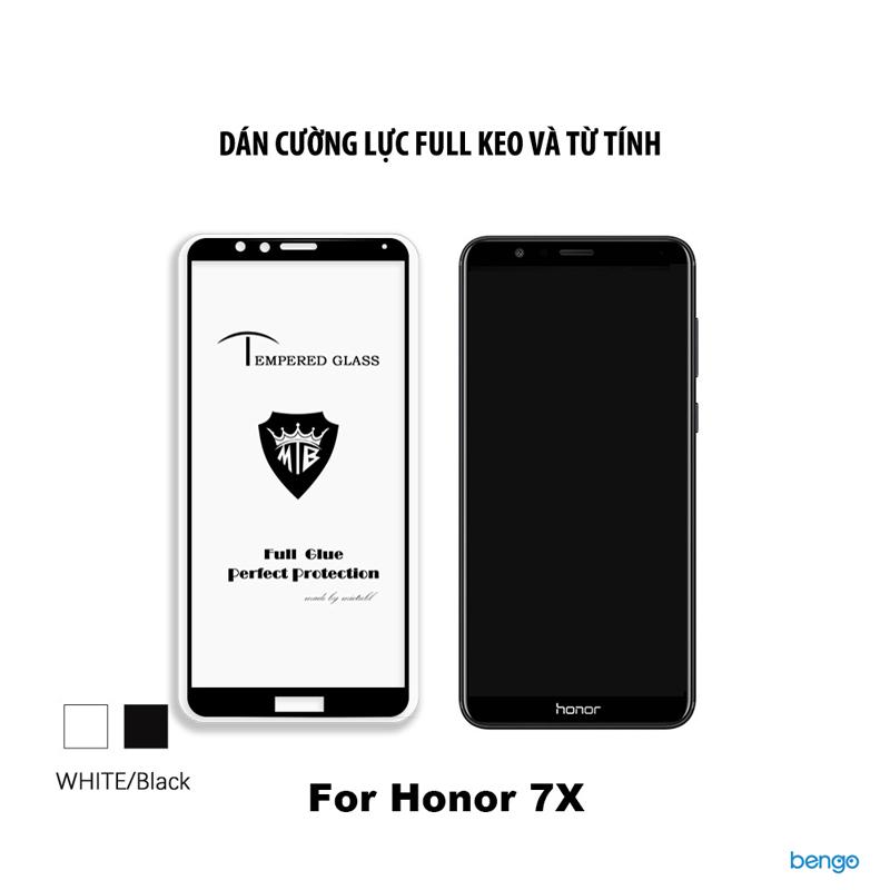 Dán cường lực Honor 7X 3D Full keo và từ tính
