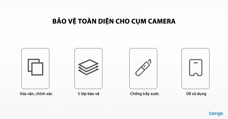 Dán cường lực bảo vệ camera Huawei Mate 20 Pro BENKS