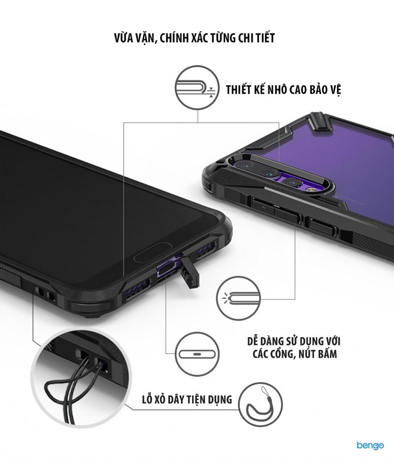Ốp lưng Huawei P20 Pro Ringke FUSION-X