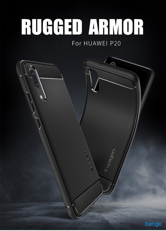 Ốp lưng Huawei P20 Pro Spigen Rugged Armor