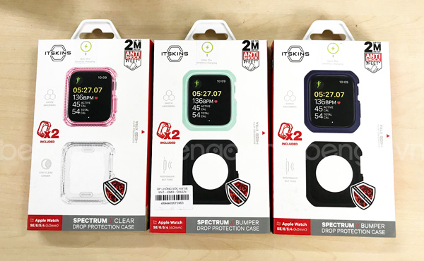 Bộ 2 ốp Apple Watch 44mm ITSKINS Spectrum // Solid Antimicrobial