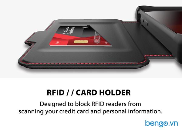Bao da iPhone 12 Pro Max ITSKINS Hybrid // Folio Leather Antimicrobial