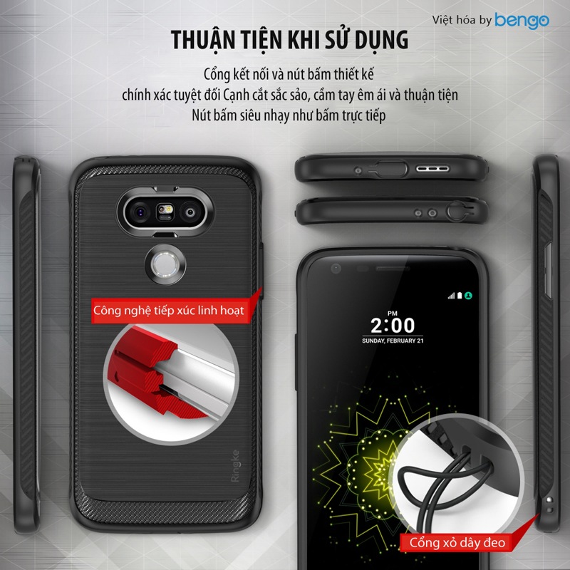 Ốp lưng LG G5 Ringke Onyx