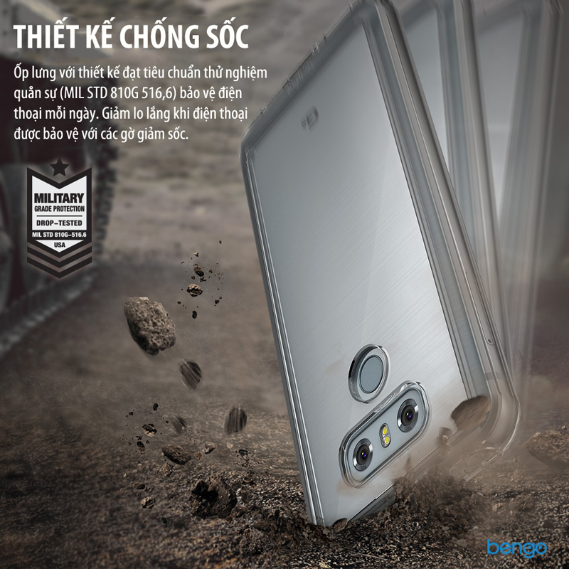Ốp lưng LG G6 Ringke Fusion