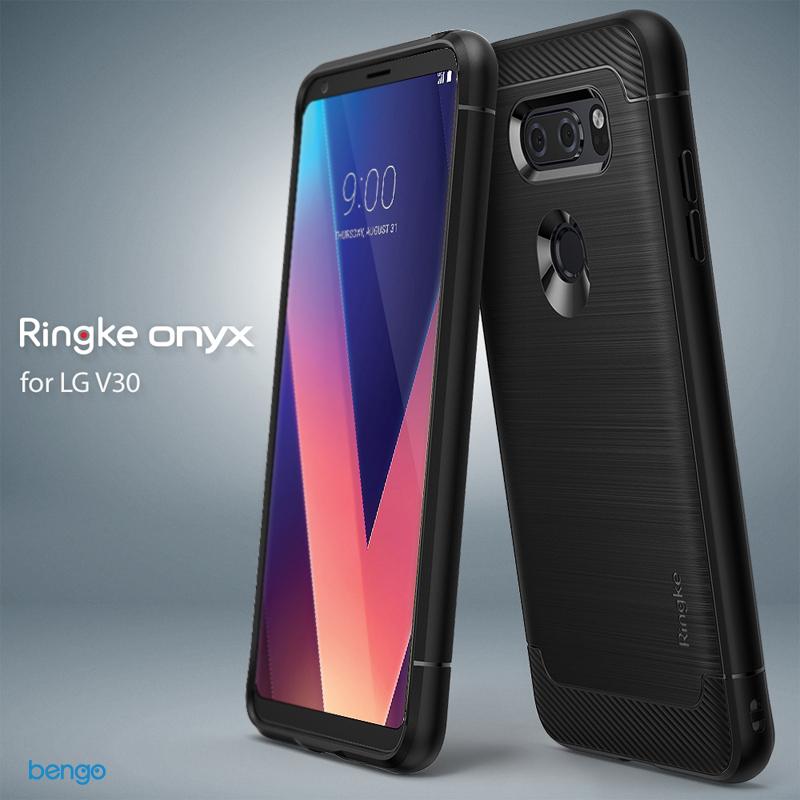 Ốp lưng LG V30 Ringke Onyx