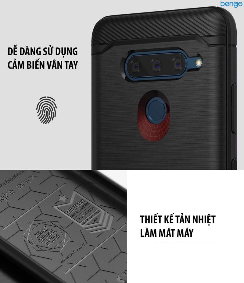 Ốp lưng LG V40 ThinQ Ringke Onyx