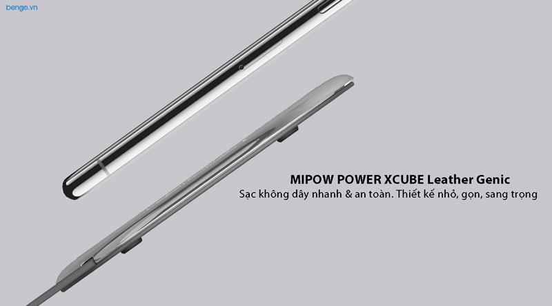 Đế sạc nhanh không dåy MIPOW POWER XCUBE Leather Genic - BTC500