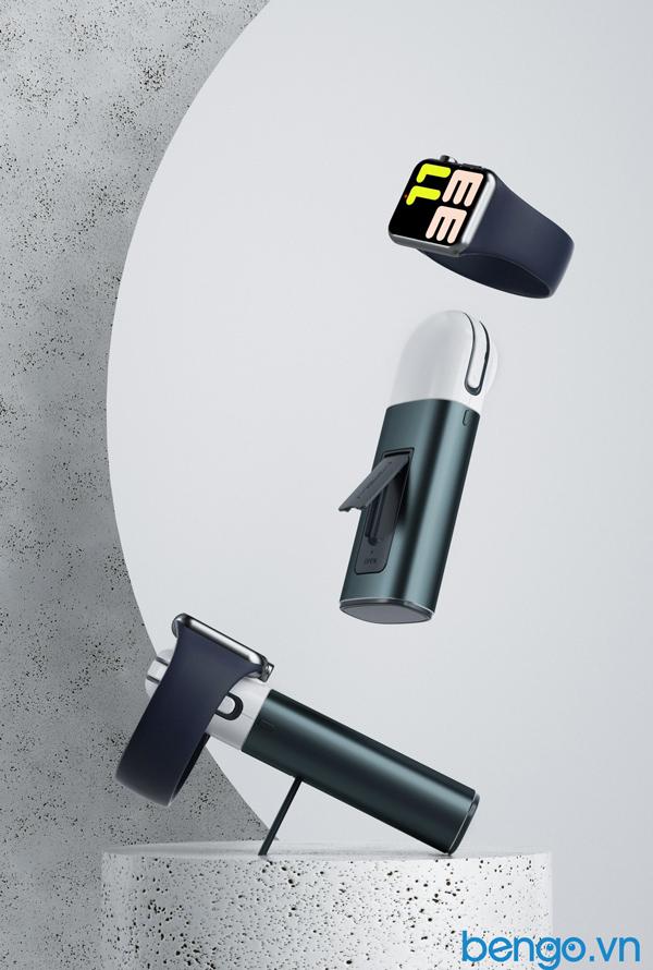Sạc dự phòng không dây Mipow Power Tube 5000mAh Apple Watch và iPhone Lightning Cable - SPL11W2–S