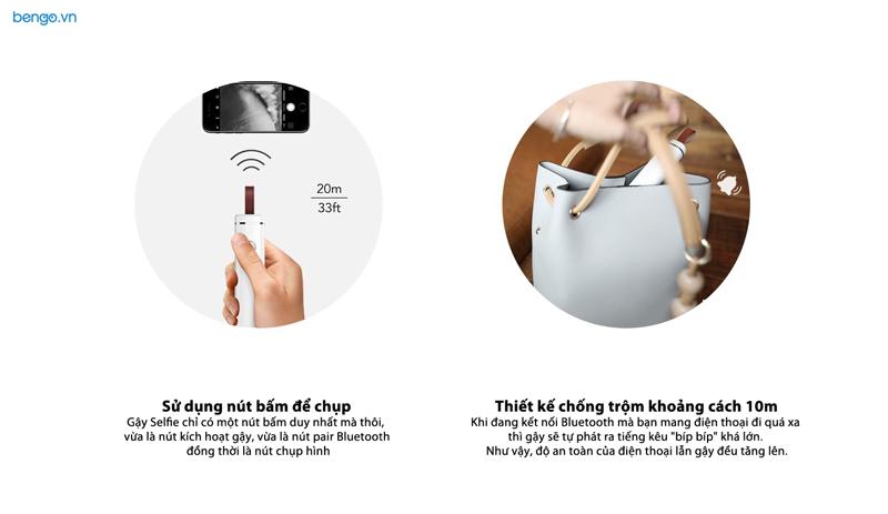 Gậy Selfie Mipow Bluetooth fashion