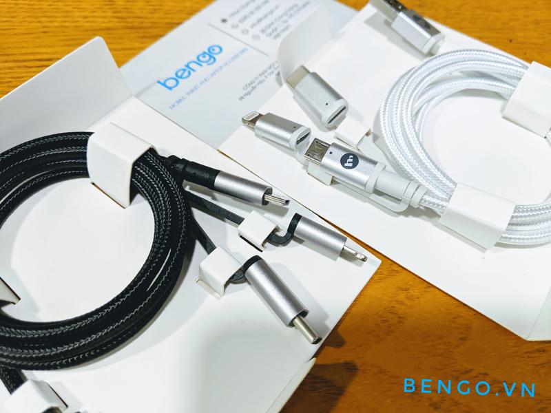 Cáp MOPHIE 3 đầu chuyển   USB-A to Micro USB, USB-C, Lightning Cable