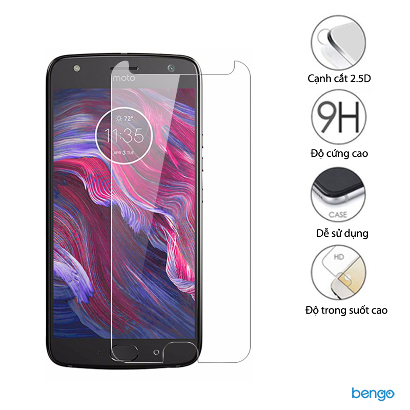 Dán màn hình cường lực Motorola Moto X4 9H+