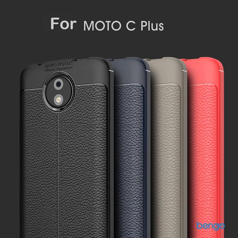 Ốp lưng Motorola Moto C Plus họa tiết giả da