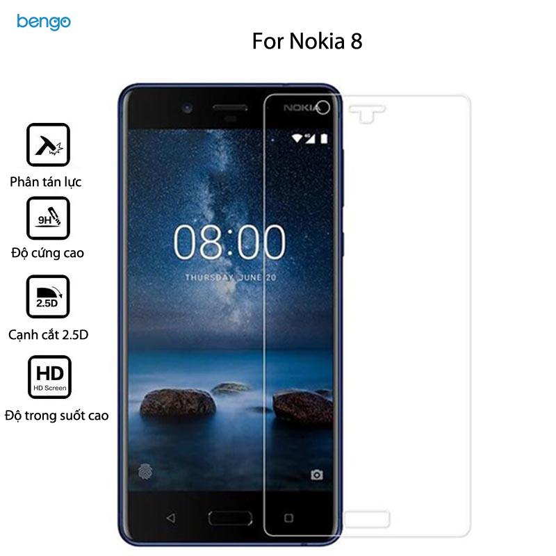 Dán màn hình cường lực Nokia 8 9H Pro