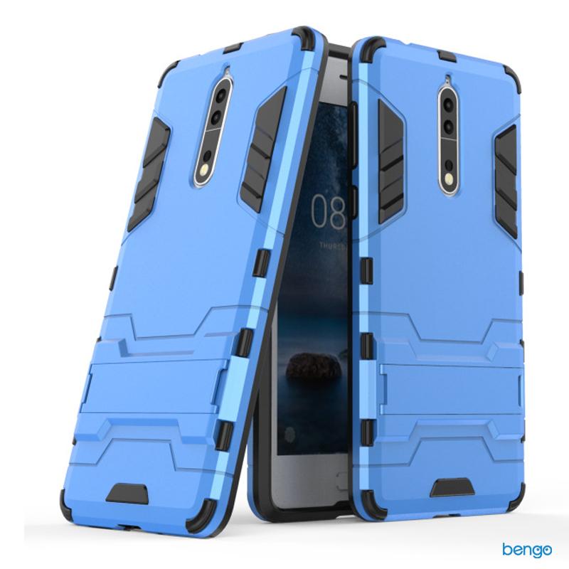 Ốp lưng Nokia 8 Iron Man 2 lớp dựng máy