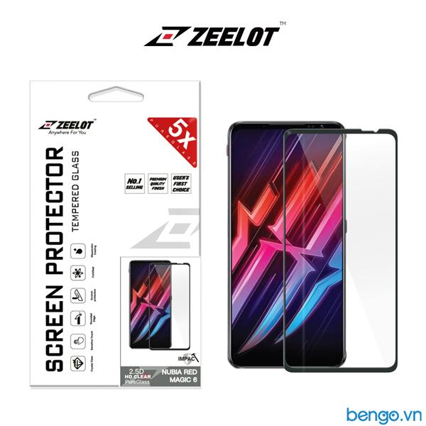 Dán cường lực Nubia Red Magic 6 ZEELOT PureGlass 2.5D Full keo