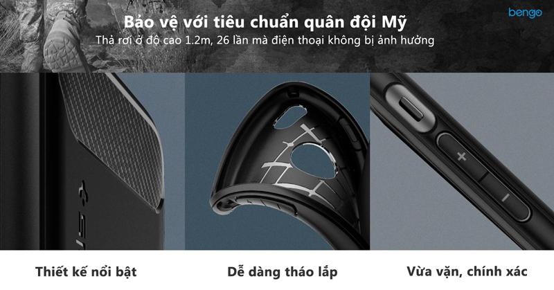 Ốp lưng OnePlus 6 Spigen Rugged Armor