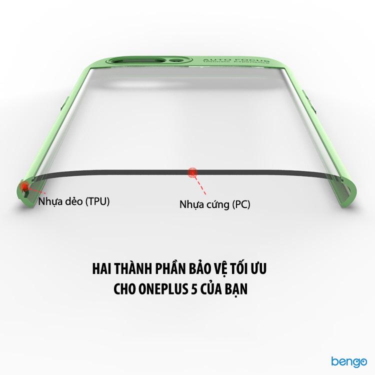 Ốp lưng Oneplus 5 IPAKY trong suốt viền nhựa dẻo