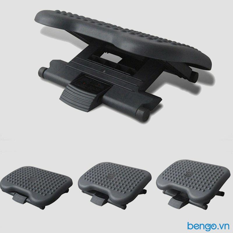 Giá kê chân bàn học tập, làm việc chống gù lưng, mỏi mệt Footrest FR-6031