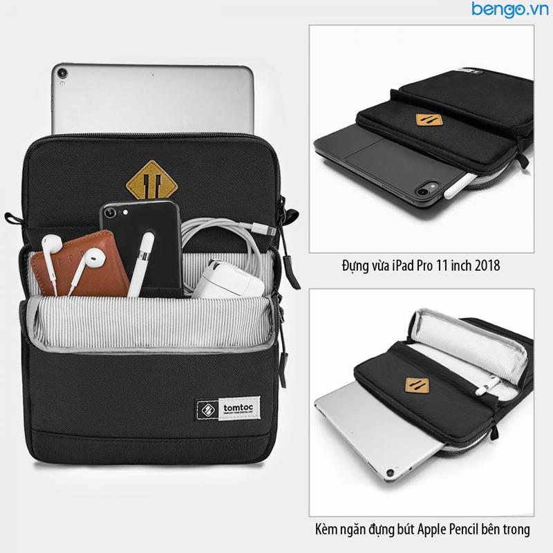 Túi đeo chéo chống sốc iPad 10.5 - 11inch TOMTOC (USA) Multi Function Shoulder Bags - A20-A01