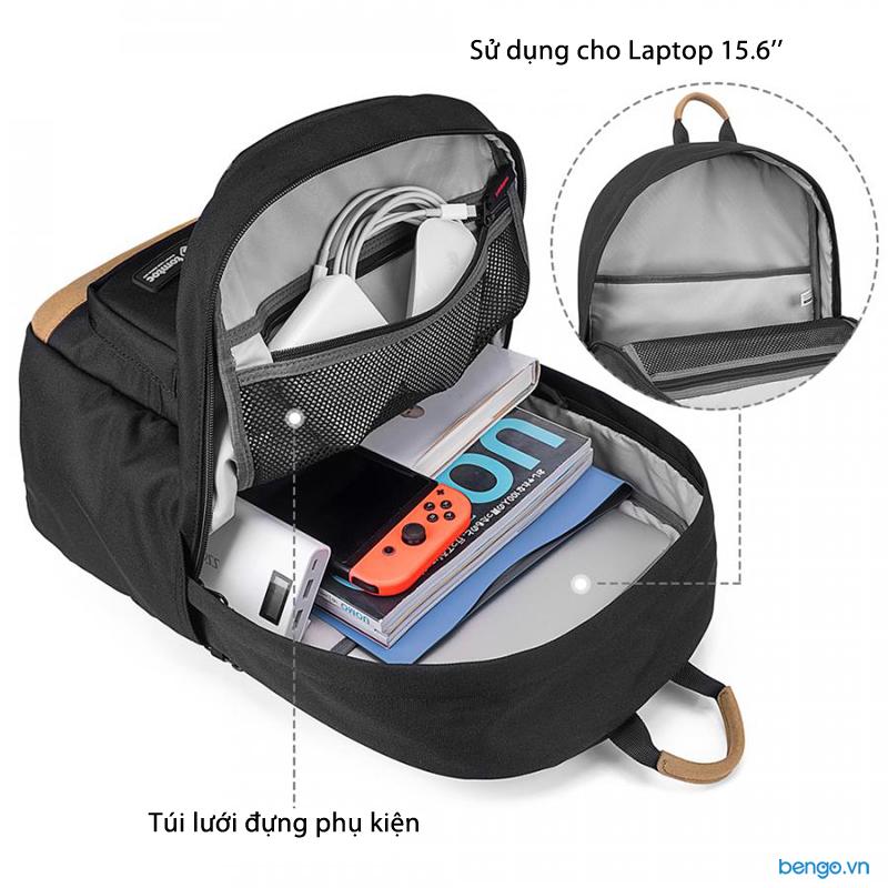 "Balo Laptop 15"" Tomtoc (USA) Lightweight Multi-Purpose"