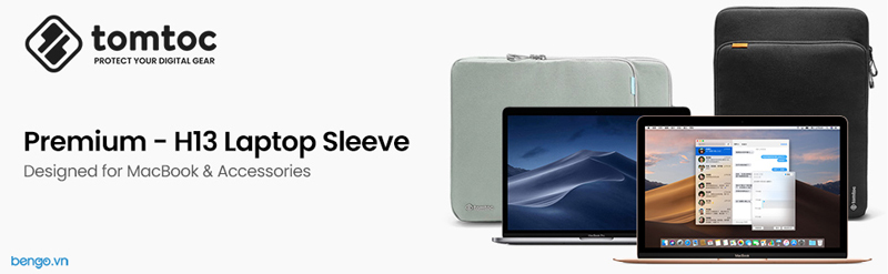 "Túi xách chống sốc MacBook Pro/Air 13"" New TOMTOC (USA) 360° Protection Premium"