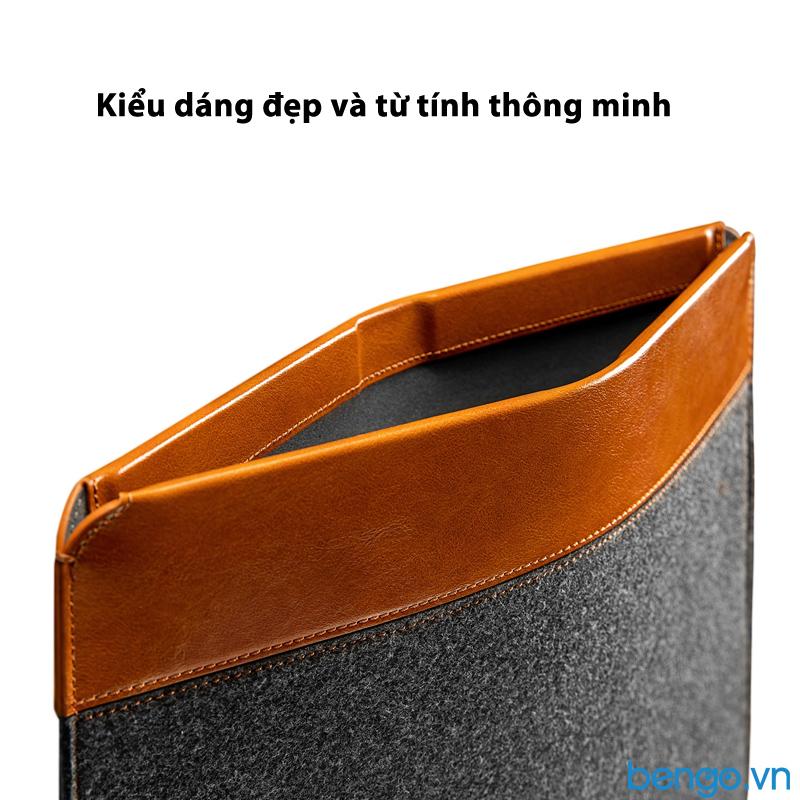 Túi chống sốc TOMTOC Felt và PU Leather cho Macbook Pro/Air 13