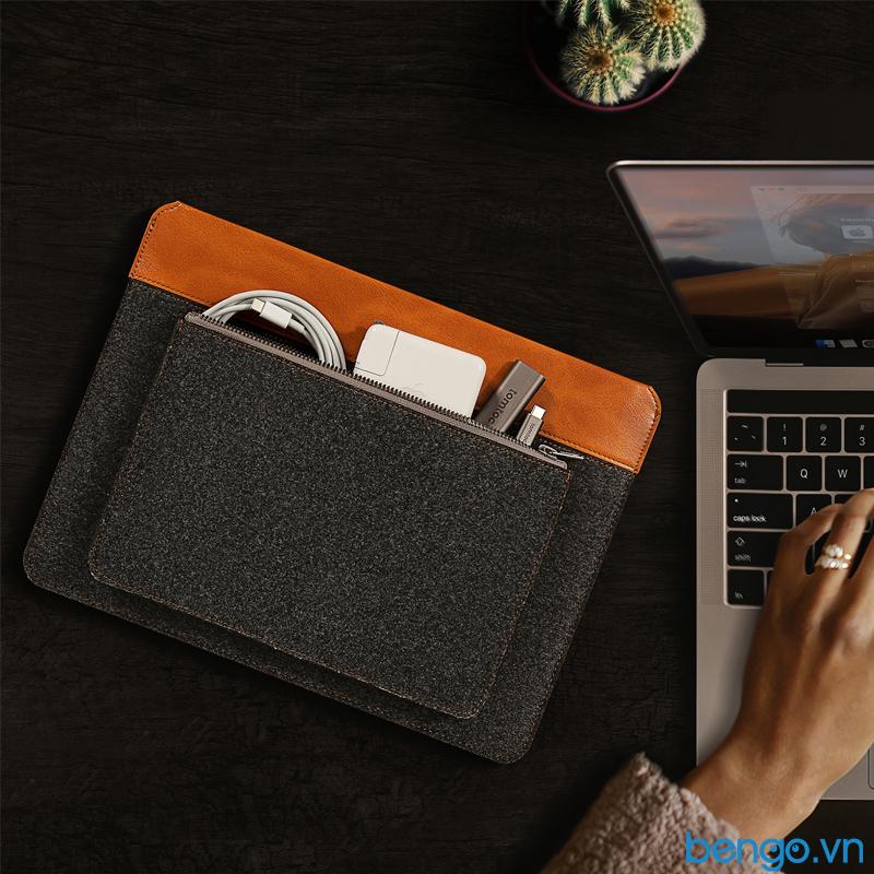 Túi chống sốc TOMTOC Felt và PU Leather cho Macbook 16″ - H16-E01Y