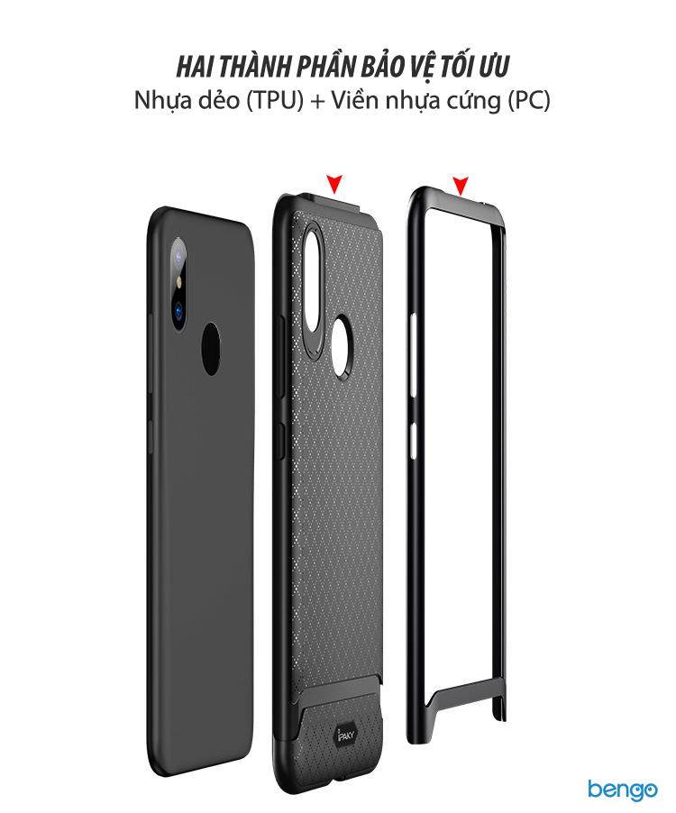 Ốp lưng Xiaomi Mi 8 IPAKY Neo Hybrid
