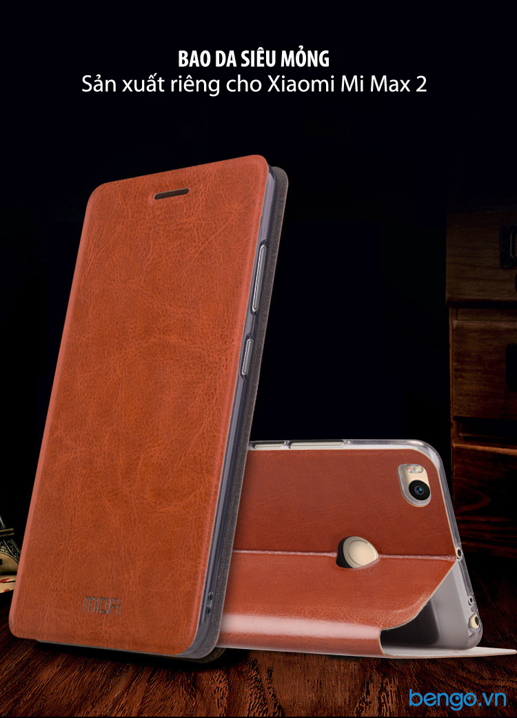 Bao da Xiaomi Mi Max 2 MOFI lõi thép siêu mỏng