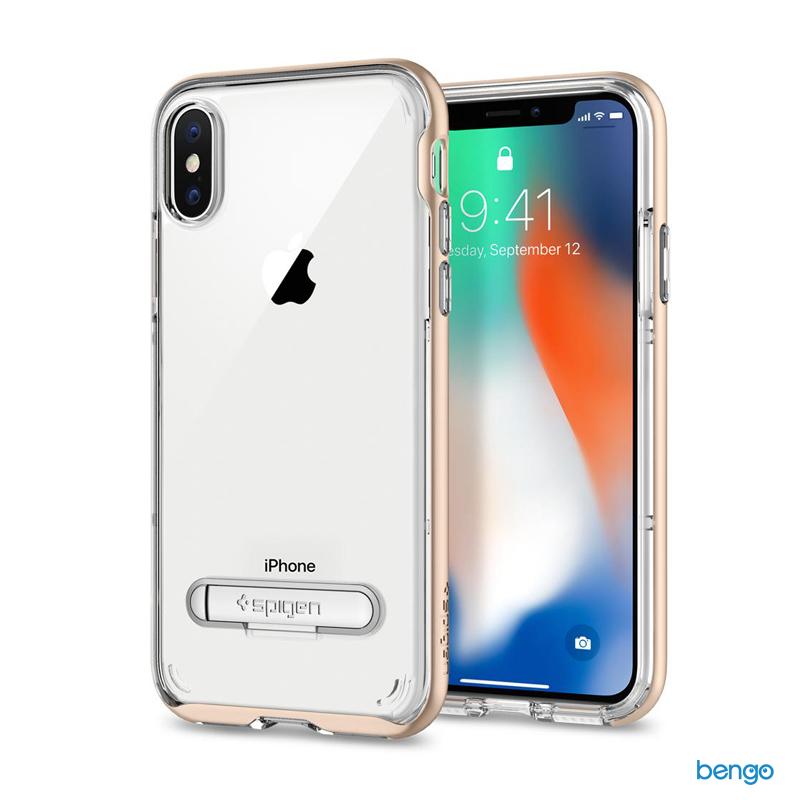 Ốp lưng iPhone X SPIGEN Crystal Hybrid
